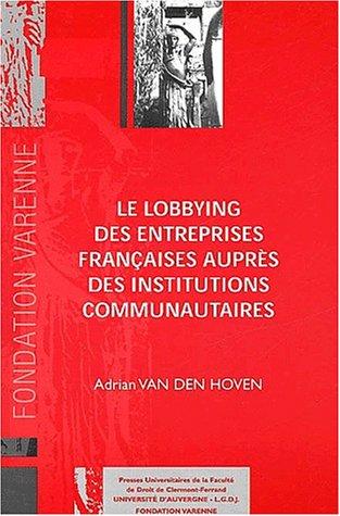Lobbying entreprises francaises