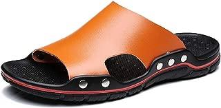 Casual Beach Slippers for Men, Huazi2 Non Slip Sandals Soft Bottom Breathable Tide Shoes Flip Flops