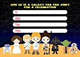 Star Wars Invitation Cards – 20 Fill-in Invites for Kids Birthday Bash and Theme Party, 10X15 cm, Postcard Style
