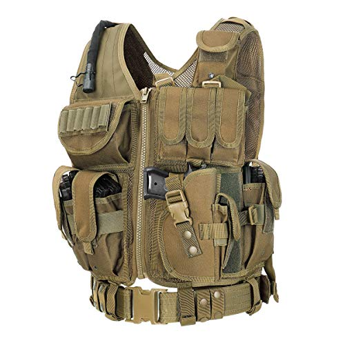 GZ XINXING 100% Full Refund Assurance Tactical Airsoft Paintball Vest (Tan)