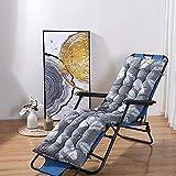 XCTLZG Cojín reclinable ultra grueso de 8 cm, cojín para tumbona, cojín para interior y exterior, banco de madera o metal, almohadilla antideslizante para silla con lazo de fijación