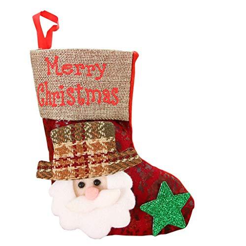 Ansenesna Weihnachten Anhänger Socke Geschenktüten Zum Befüllen Weihnachtsanhänger Socken Schmuck Deko Weihnachtsdeko