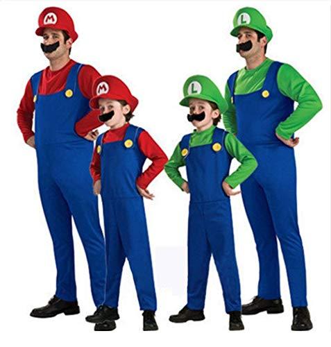 Super Mario Luigi Bros Cosplay disfraz disfraz unisex para hombre mujer adulta niños adolescentes nuevo