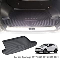 Perfectly matches the interior contours of Kia Sportage 2017 2018 2019 2020 2021,check the style of your car before purchase Made of Rubber and Polyolefin,and Product comes gently folded in box (not rolled), It's probably been creased by folded too l...