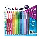 Paper Mate Flair Felt Tip Pens   Medium Point 0.7 Millimeter Marker Pens   School Supplies for Teachers & Students   Assorted Colors, 12 Count