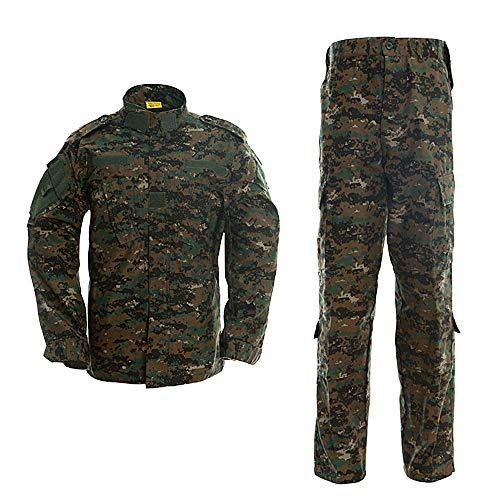 Minghe Military Tactical Men's Combat Uniform Set Shirt and Pants Sets Cp Camo Uniforms for Army Airsoft Paintball Hunting, Jungle Digital, Medium
