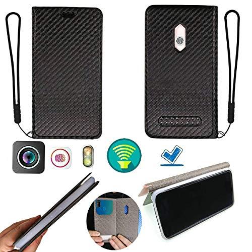 Hülle Für Blackview Bv4000 Silikon Schutzring + Flip Cover Stand Shell schwarz