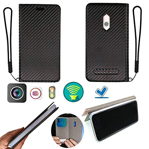 Oujietong Ojtong Hülle Für Allview P8 Energy Pro Silikon Schutzring + Flip Cover Stand Shell schwarz