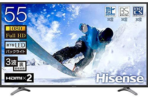 『ハイセンス Hisense 55V型 液晶 テレビ 55K30 フルハイビジョン 外付けHDD裏番組録画対応 メーカー3年保証 2018年モデル』の1枚目の画像