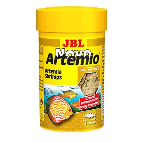 JBL NovoArtemio 30263 Ergänzungsfutter für alle Aquarienfische gefriergetrocknete Artemia-Krebse, 100 ml