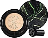 EFEG Mushroom Head Air Cushion CC Cream, CC Cream Foundation, Foundation Cover Concealer, Nude Makeup Moisturizing Brightening Pigment Liquid Foundation (02 Natural Color)