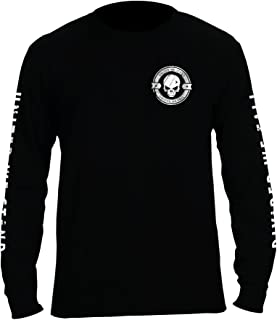 Divided We Fall Military Sniper Skull Long Sleeve T-Shirt