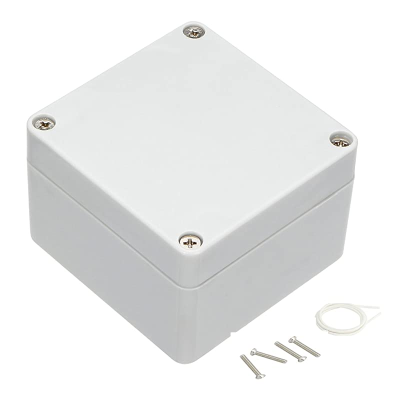 Awclub Waterproof Dustproof IP65 ABS Plastic Junction Box Outdoor Universal Electric Project Enclosure Gray 3.3
