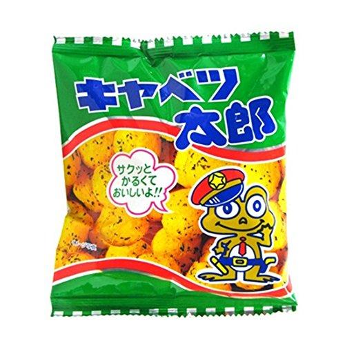 Kyabetsutaro Japanese Sauce Taste Snack 0.5oz 10Bags Frog kadou Yaokin Ninjapo