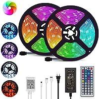 Kdorrku 32.8 ft RGB Color Changing LED Strip Lights with Remote