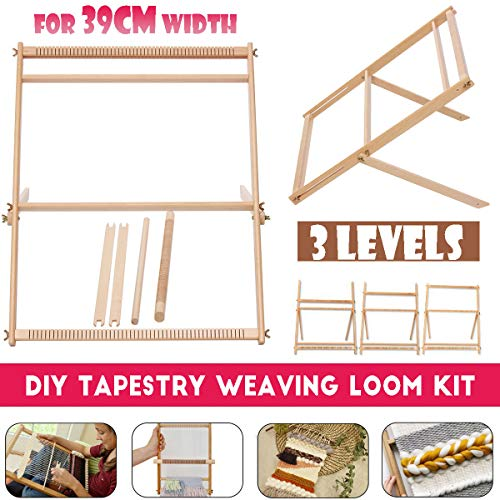 276quotH x 197quotW Weaving Loom with Stand Wooden MultiCraft Weaving Loom Arts amp Crafts ExtraLarge Frame Develops Creativity Weaving Frame Loom with Stand for Beginner