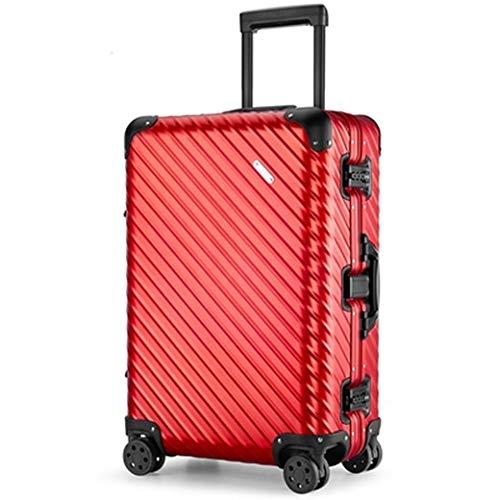 Estuche de Viaje de Aluminio AHJSN TAS Lock 20'Rojo