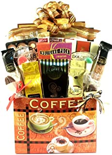 Caffe Delicioso Deluxe Gourmet Coffee Lovers Coffee Gift Basket (Gourmet Coffee)