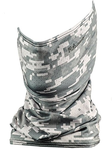 Fishmasks Single Layer Neck Gaiter - Lightweight, Fishing Protection From Sun, Wind And Moisture - Made In USA - UPF 50+ Moisture-Wicking Fabric - Digi Camo