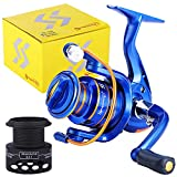 Sougayilang Flame Spinning Reels Light Weight Ultra Smooth Powerful Spinning Fishing Reels-BL2000