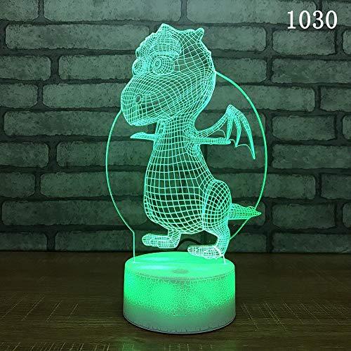 Weihnachtsdekoration Nachtlicht 3D LED Kinder Geschenk Tischlampe Nette Karikatur Alte Monstertiere Fliegendinosaurier Park Drache Tyrannosaurus Rex