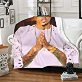 HGFJDKL August Alsina Throw Blankets for Couch Bed, Cozy Fuzzy Plush Super Soft Lightweight Blankets Microfiber Small Warm Air Conditioning Blanket 60'x50'