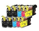 Merotoner 10 Druckerpatronen kompatibel zu Brother LC123 LC-123XL für Brother DCP-J132W J150 J252WR J172W J552DW J4110DW MFC-J470DW J6520DW J6720DW J6920DW J870DW J285DW