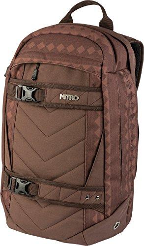 Nitro Aerial Rucksack, Multifunktionsrucksack, Schulrucksack, Daypack, Schoolbag, Sportrucksack, Rucksack mit Tragesystem für Skateboards, 27 L