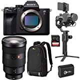 Sony a7R IV Mirrorless Camera with FE 24-70mm f/2.8 GM E-Mount Lens - Bundle with DJI Ronin-SC Gimbal Stabilizer Pro Combo, 128GB SDXC Card, Lowepro BP 150 Backpack Nylon Black, Spare Battery