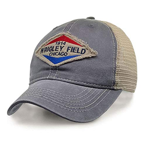 Wrigley Field Adjustable 'Gas Station' Snapback Trucker Cap Charcoal