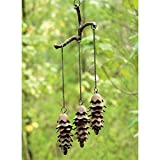 SPI Home Triple Pinecone Wind Chime