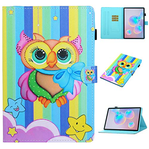 Hfly New Case for Samsung Galaxy Tab S7 (11') SM-T870/ T875, Multi-Angle Stand Shockproof Flip Folio PU Leather Case for Samsung Galaxy Tab S7 11 inch [QJB]