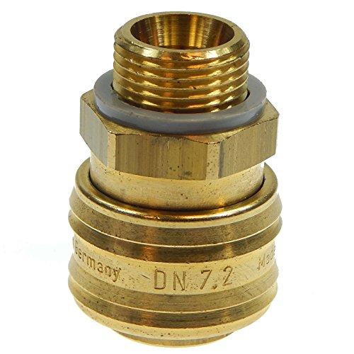 Válvula de aire comprimido, manguera conector Enchufe rosca conector manguera Boquilla