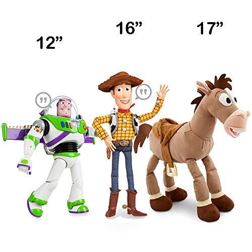 ToyStory Disney Advanced Talking Action Figure Plush - Pull String Woody - Buzz - Bulleye Bundle - Disney Exclusive