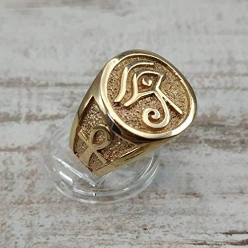 Argent Sterling 925 Eye of Horus BAGUE égyptienne antique symbole de vie Ankh SACRE