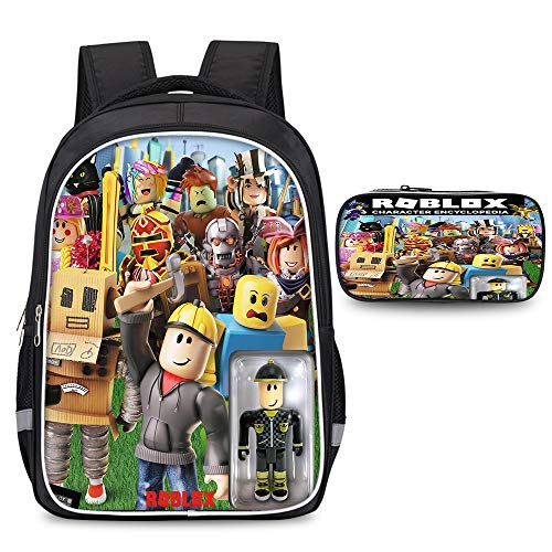 Roblox Colourful Backpack Basic Water Resistant Foldable Travel Daypack School Backpack with Pencil Case Kids (Color : A02, Size : 30 X 17 X 42cm)