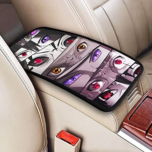 Wbrpcov Car Center Console Cover for Men,Anime Middle Console Cover for Cars Armrest Box Pad Accessories for SUV