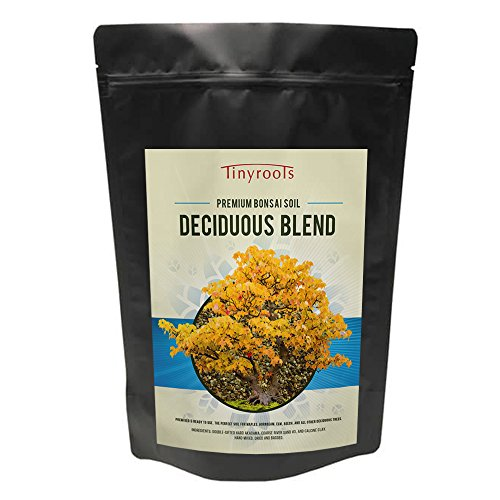 Tinyroots Deciduous Bonsai Soil Blend - 2qts, Formulated Organic Topsoil, Japanese Maple, Hornbean, Elm + Resealable Bag