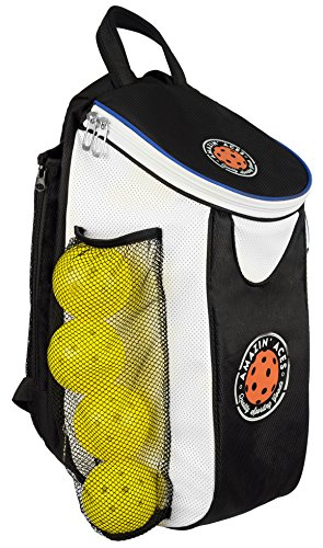 Amazin' Aces Premium Pickleball Backpack | Bag Features Pickleball Holder/Sleeve | Pack Fits Multiple Paddles | Convenient Pockets for Phone, Keys, Wallet | Padded Back & Straps for Added Comfort