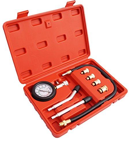 JOMAFA Compresimetro gasolina comprobador de compresion para motores gasolina universal 8 piezas