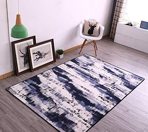 Mianbao Alfombra Geometría Moderna de la Personalidad para Las alfombras y la Mesa de Centro del Dormitorio I-Bed Alfombra-Alfombra de Juego Alfombra de Juego 60 * 90 cm