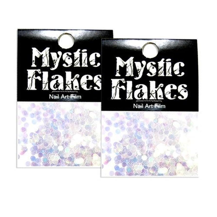 魔術ありふれたほぼミスティックフレース ネイル用ストーン オーロラホワイト サークル 2mm 0.5g 2個セット