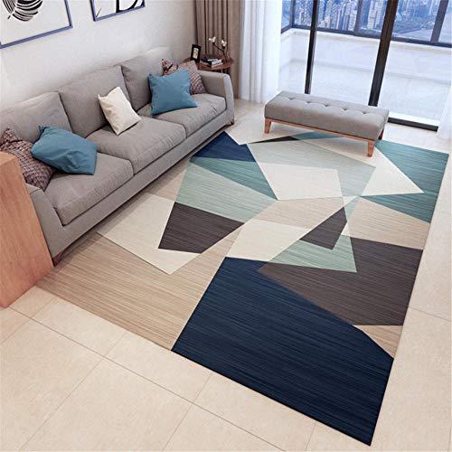 Kunsen Alfombra Exterior terraza Cuadros Salon Modernos Grandes Sala de Estar Alfombra geométrica Suave Rectangular decoración de Dormitorio Moderno alfombras de habitacion 80X160CM 2ft 7.5' X5ft 3'