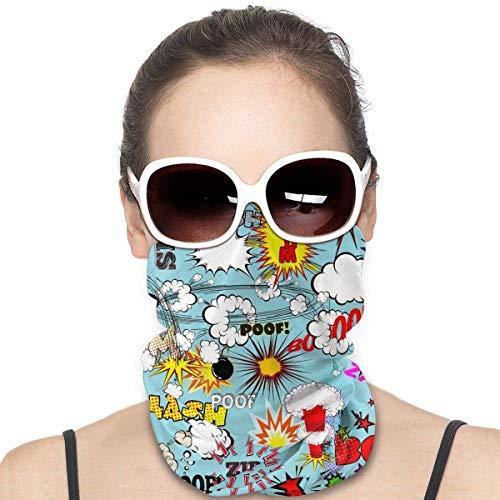 Simple Love Av Comic Explosion Seaml Gesichtsmaske Bandanas Schal Headwrap Neckwarmer für Motorrad Staub Musik Festivals Sport Cosplay Party