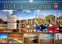 Ostfriesland - Appetit auf mehr (Wandkalender 2022 DIN A4 quer): Eine kulinarischer Wandkalender mit original ostfriesischen Rezepten (Geburtstagskalender, 14 Seiten )