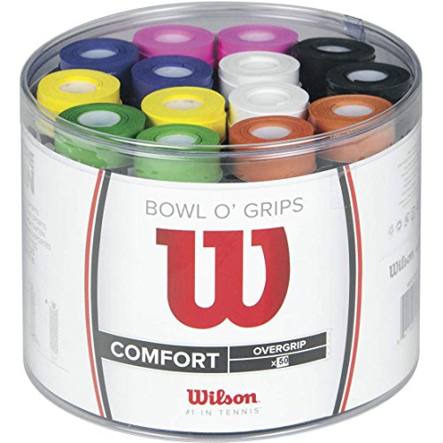 Wilson Confezione Overgrip, Bowl Overgrip, 50 pezzi, Colori assortiti, WRZ404300