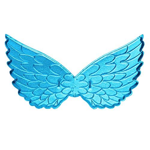 Freebily Engel Flügel Kostüm Kinder Mädchen Cosplay Props Einhorn Flügel Kostüm Karneval Fee Prinzessin Kostüm Zubehör Hochzeit Festival Partei Blau One Size