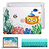 Maychen MacBook Pro 13 Case 2019 2018 2017 2016 Release A2159/A1989/A1706/A1708, Hard Case Shell and Keyboard Cover for Apple New MacBook Pro 13' with/Without Touch Bar, Underwater Creatures