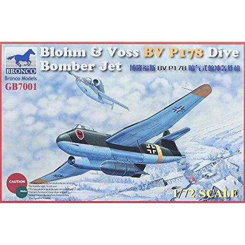 Unbekannt Bronco gb7001–1/72 Blohm & Voss BV P178 Dive Bomber Jet