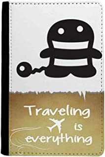 Tail Happy Fear Halloween Traveling quato Passport Holder Travel Wallet Cover Case Card Purse